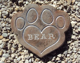 Customized Pet Memorial, Dog Memorial Stone, Cat Memorial Stone, Pet Memorial
