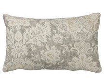 Unique Beige Grey Pillow Related Items Etsy