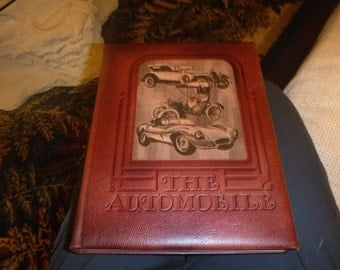 The Automobile by Peter Roberts 1978 Oppenheimer Leather Bound VTG Rare Book: