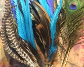 Reserved for Ludo - Custom feathers for mohawk upkeep