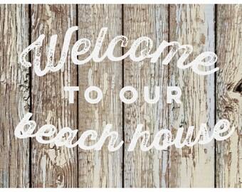 Beachy Barnboard Welcome Rug Flooring Background or Floor Drop Photo Prop
