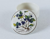 Vintage Trinket Box Sweets Box Medicine Box Porcelain Villeroy and Boch Luxembourg Botanica Collection Excellent Condition