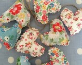 Cath kidston  fabric mini heart garland, bunting,wedding,home decor