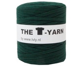 The t-shirt yarn 120-135 yards, 100% recycled cotton tricot yarn, green 48