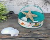 Vintage J Chein & Co Tin Litho Beach Sand Sifter - Beach Toy
