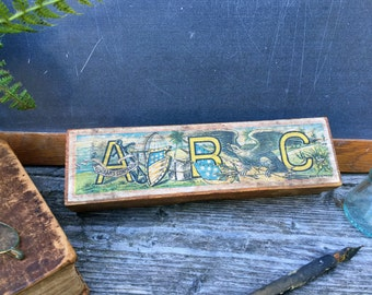 Antique Wooden Pencil Box - Vintage School Pencil Box - Made in Germany