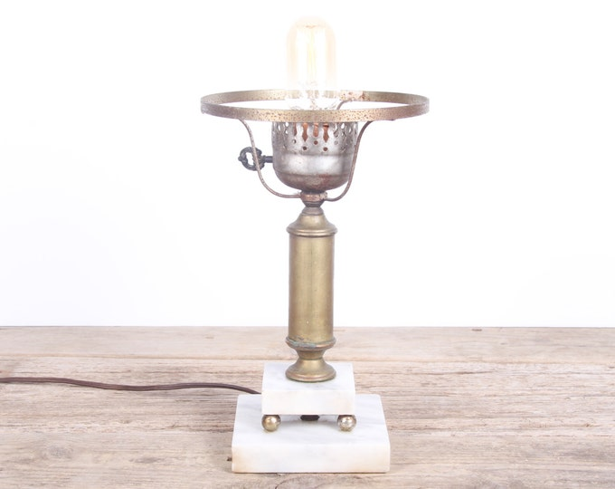 Vintage Desk Lamp / Working Antique Marble  Lamp / Victorian Lamp / Unique Table Lamp / Office Lamp / Industrial Modern Lamp