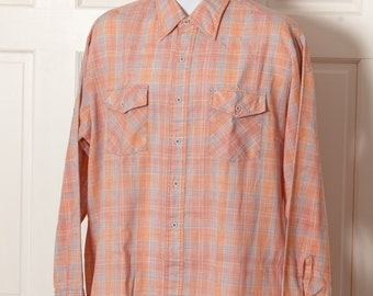 Vintage Men's Button Down Shirt - country style - MOVING-UP - XL