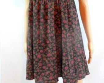 90s Floral Babydoll Dress with Peter Pan Collar
