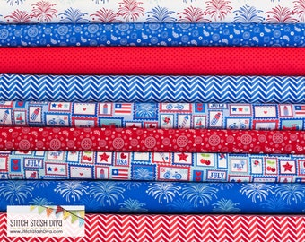 Star Spangled Bundle from Riley Blake - LIMITED (9 Fabrics Total)