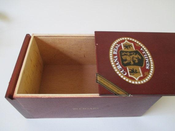 Slide Top Cigar Box, Supply, Craft Storage Ready for Decoupage, DIY Decorating Keepsake Memento, Reusable Gift Box Tobaccianna