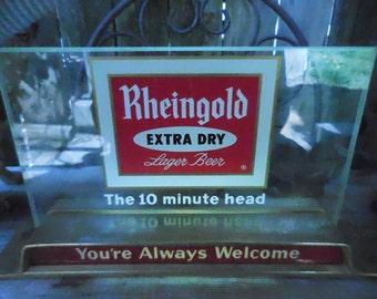 Vintage Rhinegold Beer electric advertising sign