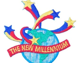 New Millenium Globe Star Patch X American Deadstock Patches