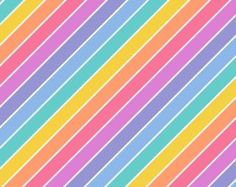 Stripped Rainbow Colors Background with LuLaRoe Colors