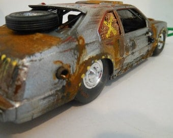 Scale Model, Zombie ,Apocalypse,Vehicle,Rusted,Wrecked