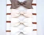 Tuxedo Bow Clip or Nylon Headband