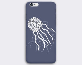 Jellyfish phone case // Illustrated Animal phone case // iPhone 7 / 7 Plus / 6 / 6S / SE / 5 / 5S // Samsung Galaxy S7 / S6 / S6 Edge / S5