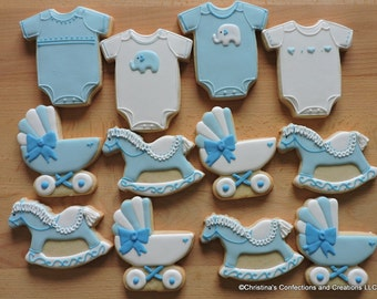 Gift Set Of Decorated Sugar Cookies For A Baby Shower Or New Mom (#2610