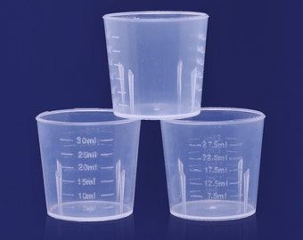 Measuring Cups for Resin 30 ML Mixing Cups  Clear Medicine measuring cup 10098225