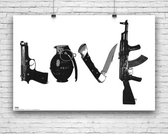 """Weapons of Love, Illustration, Art Poster - 24""""x36"""""""
