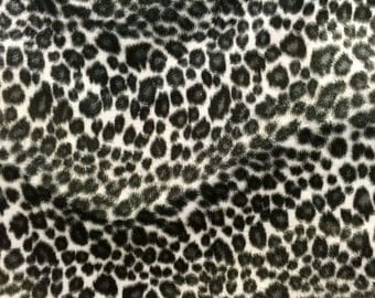 Velboa S-Wave Fabric Animal Prints By The Yard -  Snow Cheetah