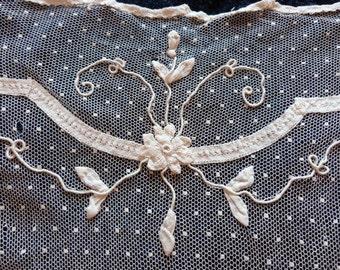alte franz sische paar fenster gardinen von myfrenchantiqueshop. Black Bedroom Furniture Sets. Home Design Ideas