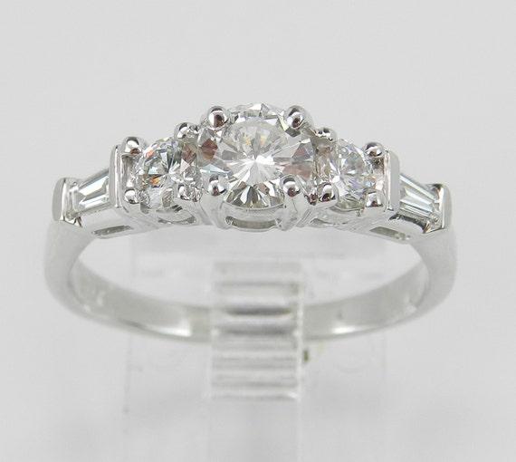 Platinum Diamond Engagement Ring G VS Size 7.5 Genuine Natural Brilliant