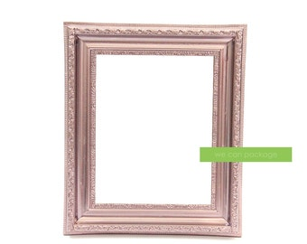 "ROSE GOLD Picture Frame Vintage Shabby Chic Photo  8"" x 10"""