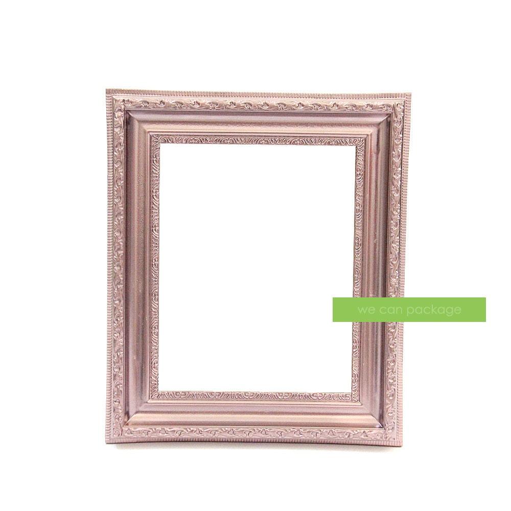 rose gold picture frame vintage shabby chic photo 8 x. Black Bedroom Furniture Sets. Home Design Ideas