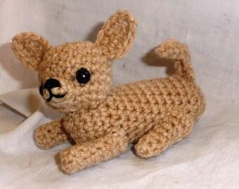 chihuahua crochet miniature amigurumi toy dog