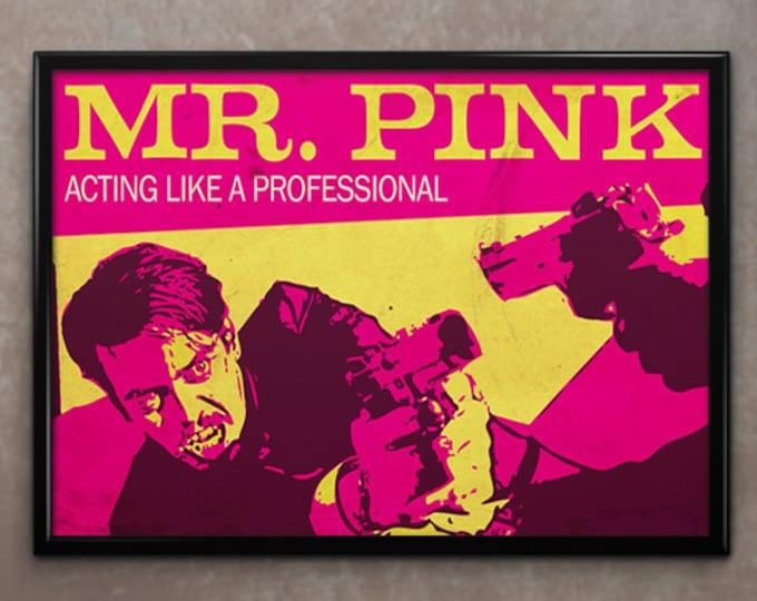 Reservoir Dogs Movie Poster or Framed Print, Mr. Pink, Steve Buscemi