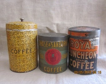 Choose Your Favorite Antique Coffee Tin