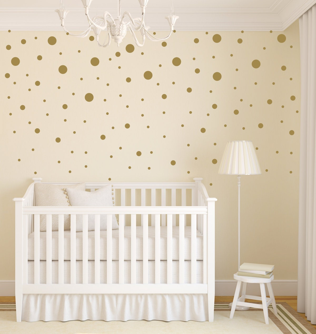 Stars Stickers For Walls Gold Dot Decals Polka Dot Wall Decal Gold By Lulugirldesigns