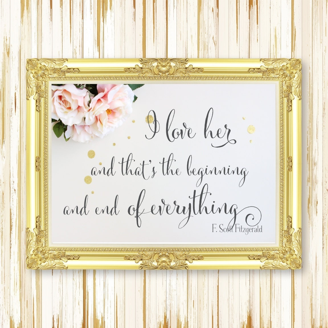 F Scott Fitzgerald Love Quote Love Quote Sign  Wedding Signs  Instant Download Printable Art