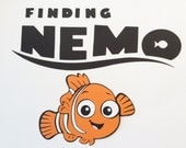 "Handmade, Nemo, Finding Nemo, Orange, Black, White, 4"","