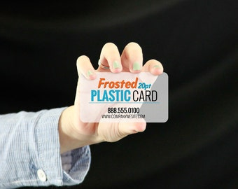 Frosted Plastic Business Cards  - full color