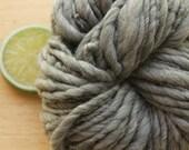 Cozy Grey - Handspun Wool Yarn Natural Gray Bulky