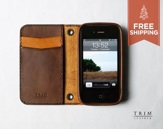 iPhone 4 4S Leather Wallet [FREE SHIPPING] [Handmade] [Custom Colors]