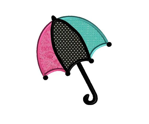 Items similar to umbrella applique machine embroidery