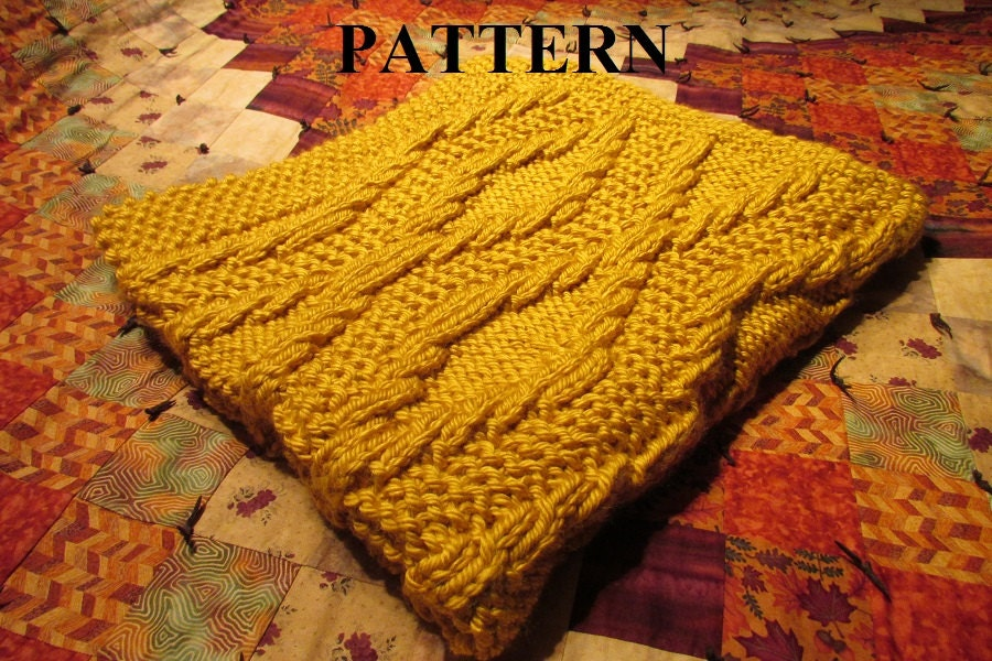 Knit Baby Blanket Pattern Knitting Pattern Chunky Yarn Knit
