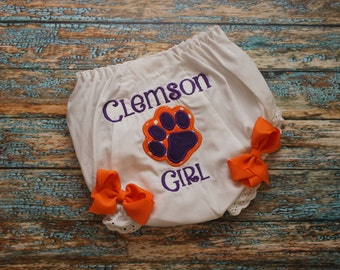 Baby Girl Clemson Bloomers- NEW DESIGN