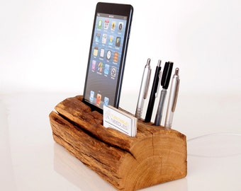 iPad mini dock + pen/card holder, iPad mini 1, mini 2, mini 3, mini 4 charging station - iPad mini stand - unique gift