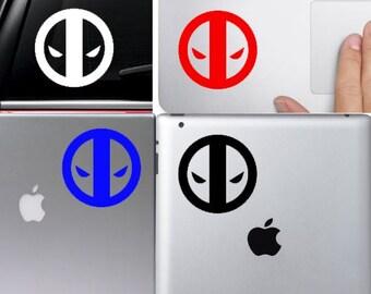Deadpool macbook decal, Deadpool decal, deadpool laptop decal, deadpool car decal, deadpool sticker