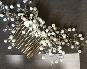 Wedding hair comb pearl Bridal hair comb, Bridal Headpieces, Bridal Hair Accessory, Bridal Haircomb
