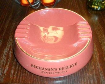 Vintage Buchanan's Reserve Scotch Whiskey Ashtray by Wade PDM