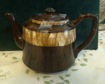 English Drip Glaze BrownTeapot