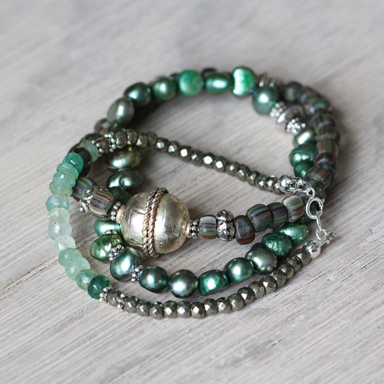Gemstone Stacking Bracelets May June Birthstone Bracelets
