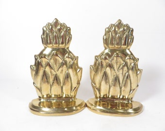 Vintage Brass Pineapple Bookend - Brass Bookend