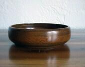 "Reserved- 10% Off Sale - Vintage Myrtlewood 8"" Wood Bowl - Shallow - Glossy Finish"