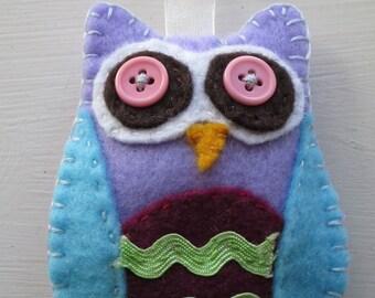 Felt Owl Hanging Decoration